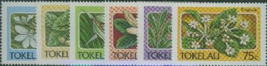 TOK SG142-7 Tokelau Flora set of 6